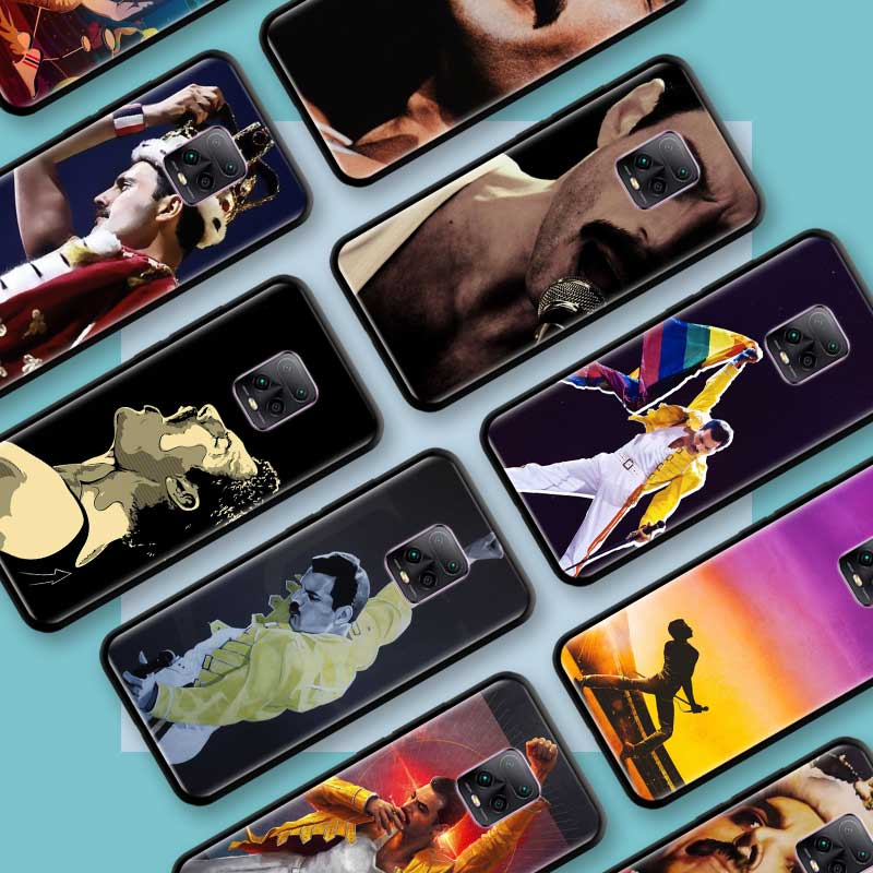 Funda de Tpu negra para Xiaomi Redmi Note 8, 9S, 8T, 9, 7, 10X, 5G, K30 Pro, Zoom 7A, 8A, K30i, fundas de teléfono, funda de Freddie Mercury Queen Band