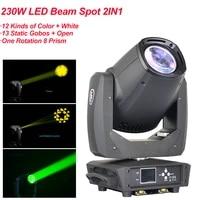 moving head 230w led beam spot light rotation 8 prism gobo disco light dmx projector machine night club light party dj equipment