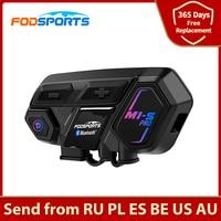 Fodsports M1-S Pro Helmet Intercom Headset Motorcycle Waterproof Bluetooth Interphone 8 Rider 2000M Wireless Intercomunicador