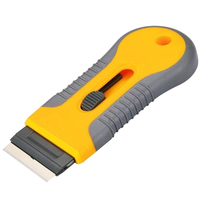 Removedor de pegatinas de coche, cuchilla de afeitar, espátula, raspador, herramientas para película de ventana, cuchillo de utilidad para ventana de vidrio, película de pegamento, eliminación de pegamento, 1 uds, reemplazar