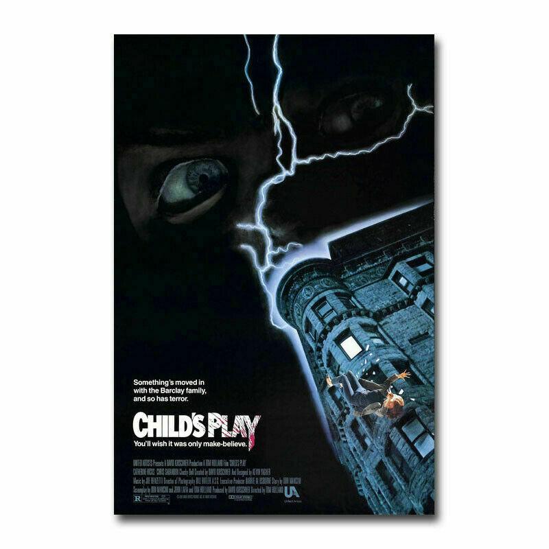 Childs Play Horror Movie 2019 Chucky 2 Wall Sticker Home Decoration Silk Art Poster