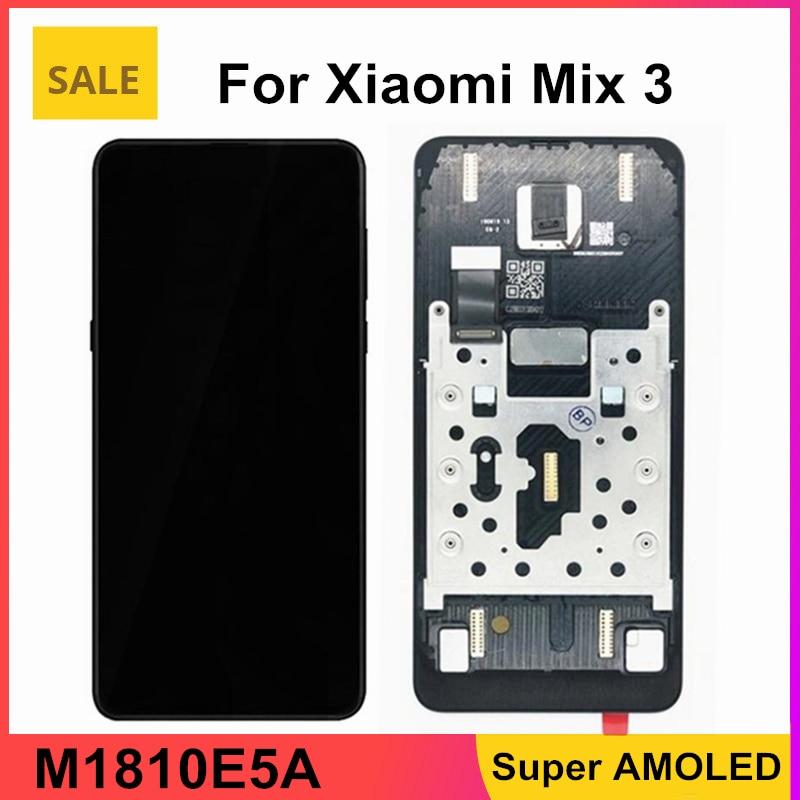 محول رقمي بشاشة لمس LCD من AMOLED مقاس 6.39 بوصة مع إطار لمحول رقمي شاومي ميكس 3 LCD لشاومي Mi Mix 3 M1810E5A