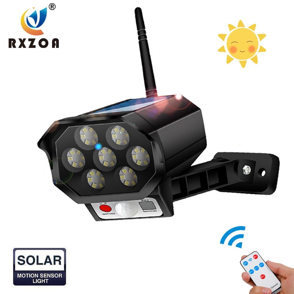 Светодиодный аналоговый монитор на солнечной батарее, уличный водонепроницаемый с инфракрасным датчиком, подходит для дворов, террас, садо...