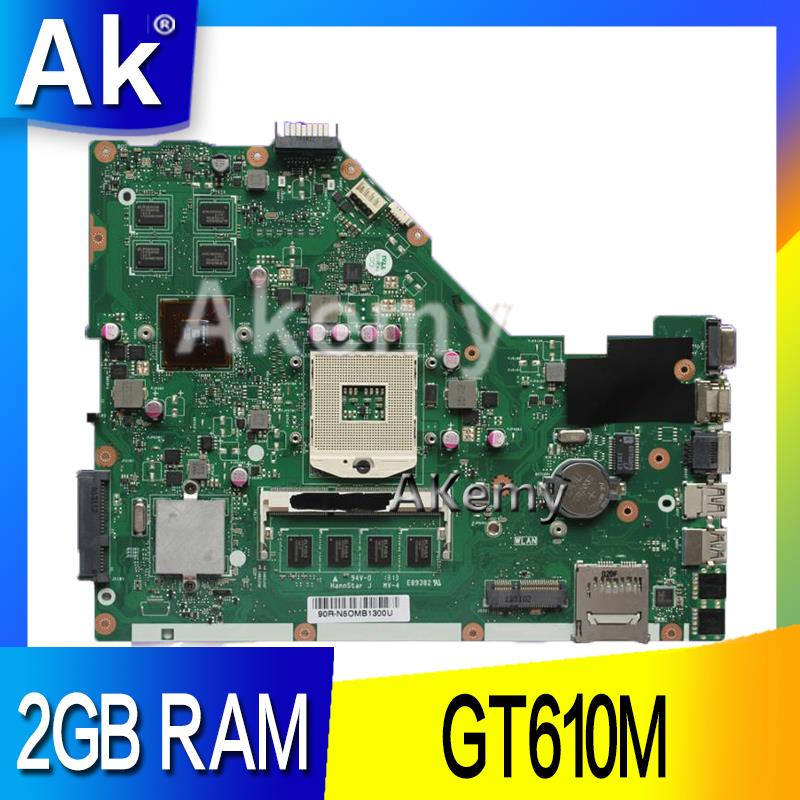 AK X55VD Laptop motherboard for ASUS X55VD X55V X55 Test original motherboard REV2.1/REV2.2 GT610M 2GB RAM