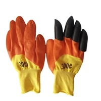 1 pairs gardening gloves with claws puncture resistant waterproof safe garden gloves for digging pruning planting