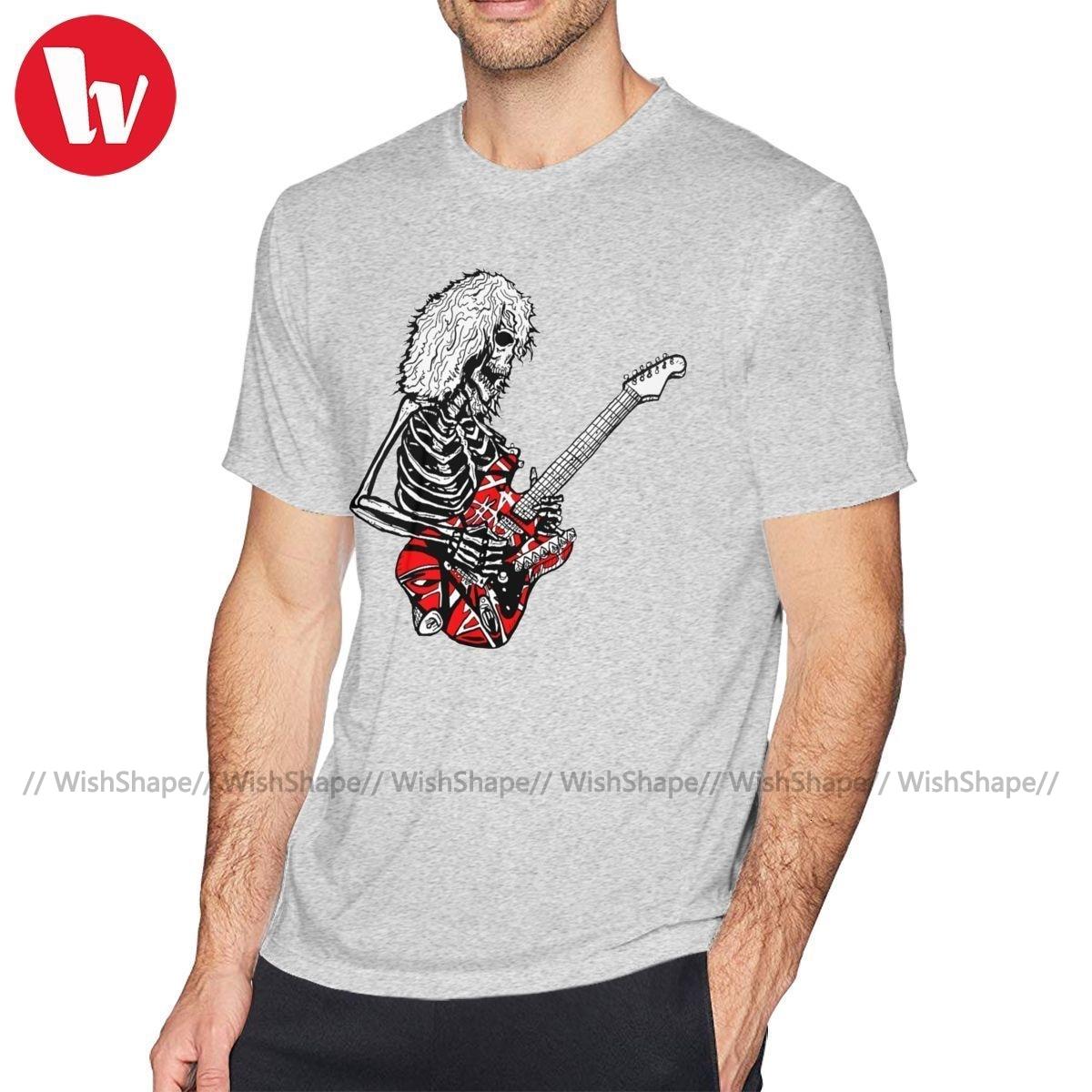 Van Halen T Shirt DEAD E Van Halen T-Shirt Streetwear Short Sleeve Tee Shirt Fun Plus size Cotton Mens Tshirt