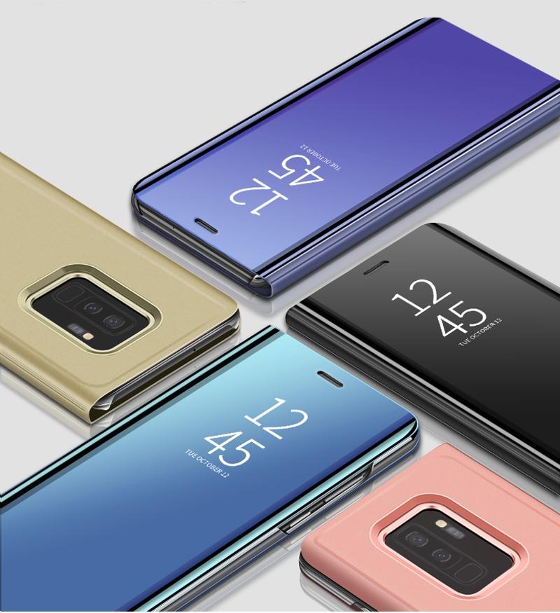 Espejo Smart Flip funda de teléfono para Xiaomi Redmi Note 7 funda Redmi Note 7 Pro Note7 Note7Pro funda de pie
