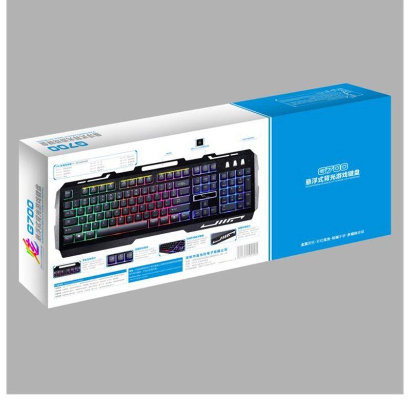 Wired USB RGB Gaming Keyboard Colorful LED Backlit Desktop Computer Gaming Keyboad Cool Lighted Laptop Gaming Keypad