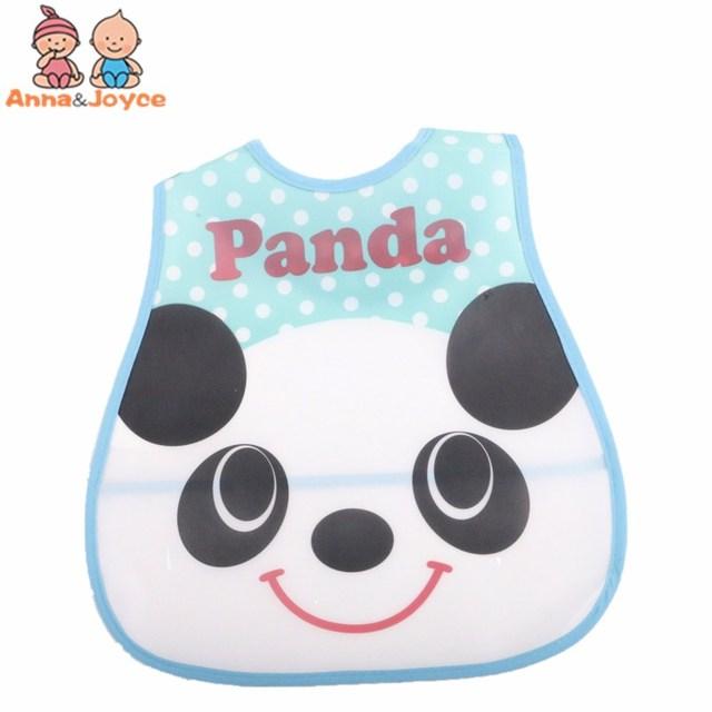 4pc/Lot Baby Bibs Waterproof Cartoon Children Burp Cloths Kids Towel Accessories 4