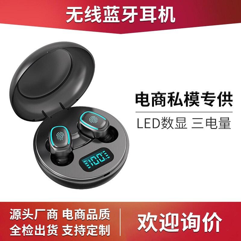 Proveedor de electricidad nuevos productos A10 modelos ilegales auriculares Bluetooth con doble mango TWS 5,0 pantalla Digital en el oído inalámbrico Spor