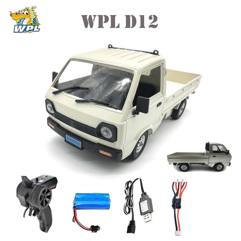 WPL D12 1/10 2WD RC Car Simulation Drift Truck Brushed 260 motor Climbing Car LED Light On-road RC C