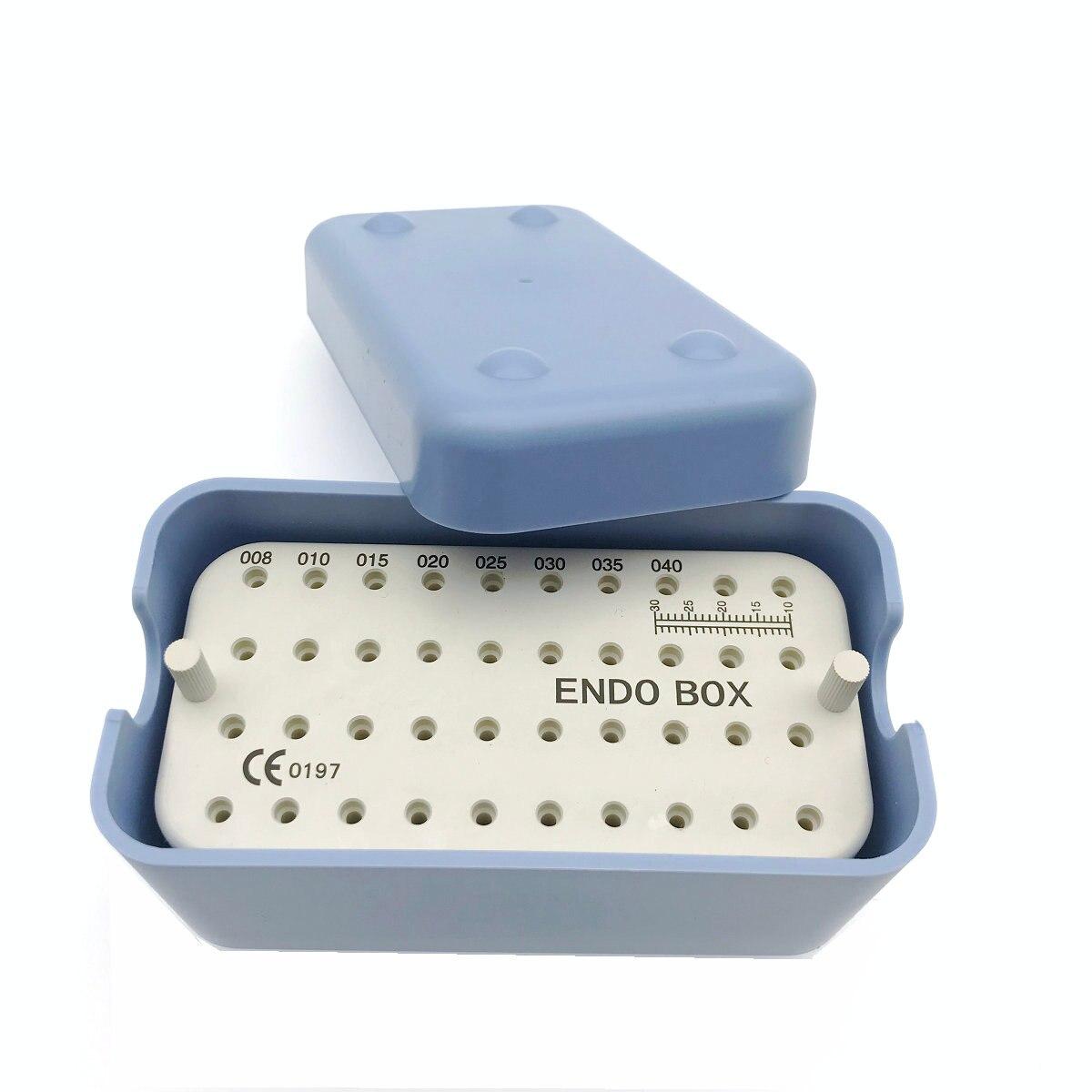 1pc nova caixa de endo plástico dental com uma régua para arquivos dentais endo container
