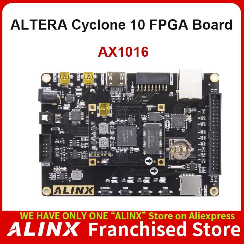 ALINX AX1016: Intel Cyclone 10 10CL016 FPGA Development Board