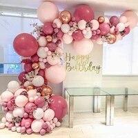 96pcs rose gold balloon chain baby shower ballon 18 birthday party decor balloon garland arch romantic wedding balon balloons