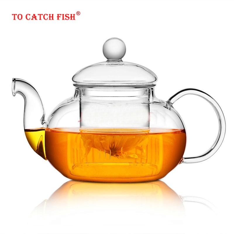 Высококачественный термостойкий стеклянный чайный горшок, практичная бутылка с цветком чайная чашка стеклянный чайный горшок с заварочны...