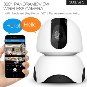 360 Fish Eye Wireless Camera Baby Monitor Security Camera Outdoor Home Security Alarm System Wifi Camera Support 128GB Card