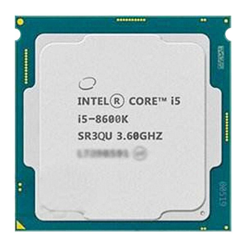 [해외] 인텔 코어 I5-8600K i5 8600 k CPU 프로세서 i5 8600 K 6 코어 6 스레드 3.6G CPU 95W LGA 1151 3.6 GHz 산란 조각