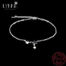 Neue Mode Drei Sterne Anhänger Fußkettchen Armband 925 Sterling Silber Einfache Charme Sterne Knöchel Kette Für Frauen & Mädchen Schmuck geschenk