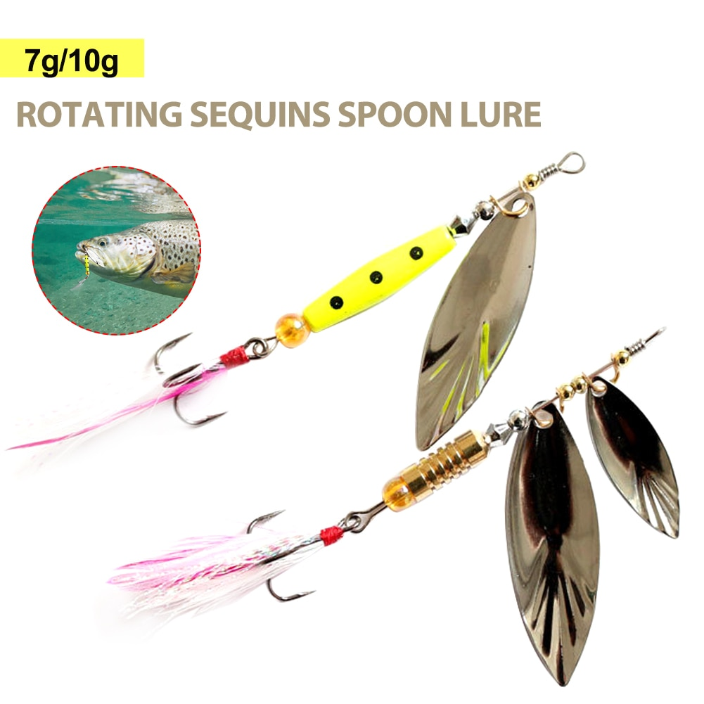 2017 spoon lure metal bait hard fishing lure gold silver 7g 14g 18g fly fishing baits china fishing spoon free shipping Fishing Lure Fishing Spoon Hard Lure Metal Fishing Tackle 7g/10g Spinner Bait with Treble Hook in Feather Fishing Accessories