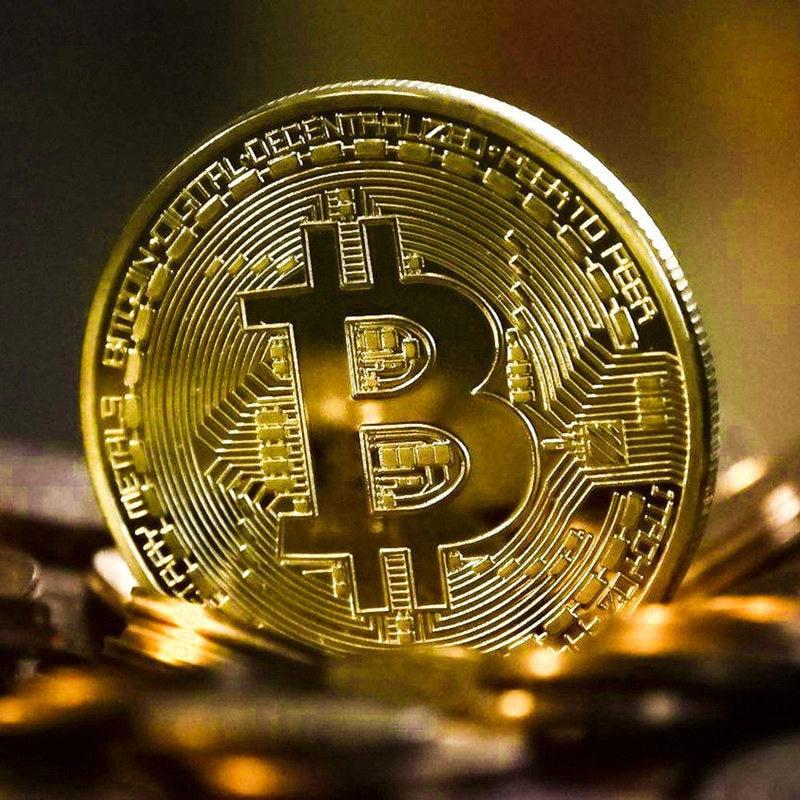 Creative Bitcoin Coin Souvenir Gold Plated Collectible Gift Bit Ethereum Litecoin Art Collection Physical Commemorative Coin недорого