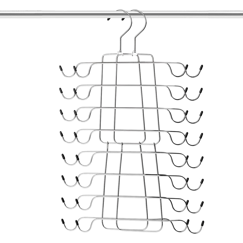 Tank Tops Hanger Metal Folding Space Saving Hanger Closet Organizer for Tank Tops, Cami, Bras, Bathing Suits, Belts, Ties(2 Pa