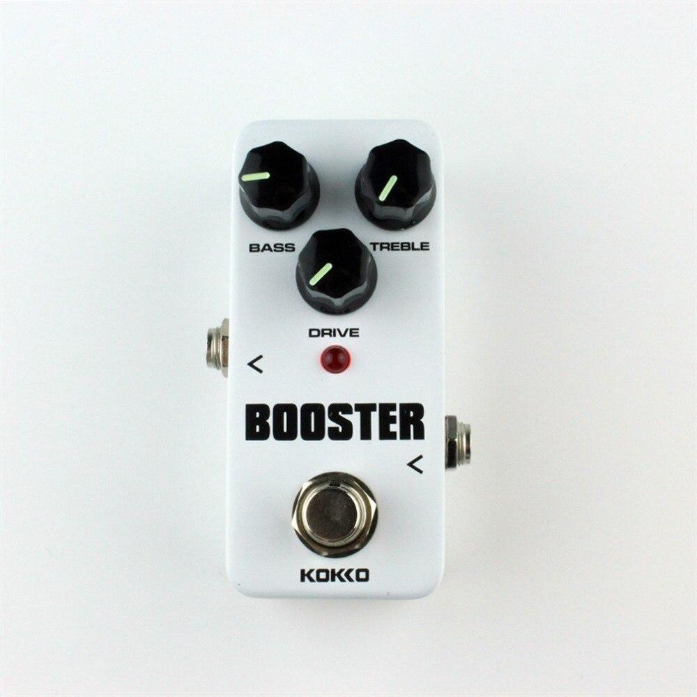 KOKKO FBS-2 Mini Overdrive Guitarra efecto Pedal Guitarra Overdrive Booster alta potencia tubo Guitarra dos segmentos EQ efecto dispositivo