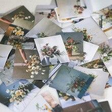 45/46 pcs /set Cute Mini Box Stickers Bullet Journal Kawaii Daily Life Landscape Flower Deco Stickers Scrapbooking Stationery