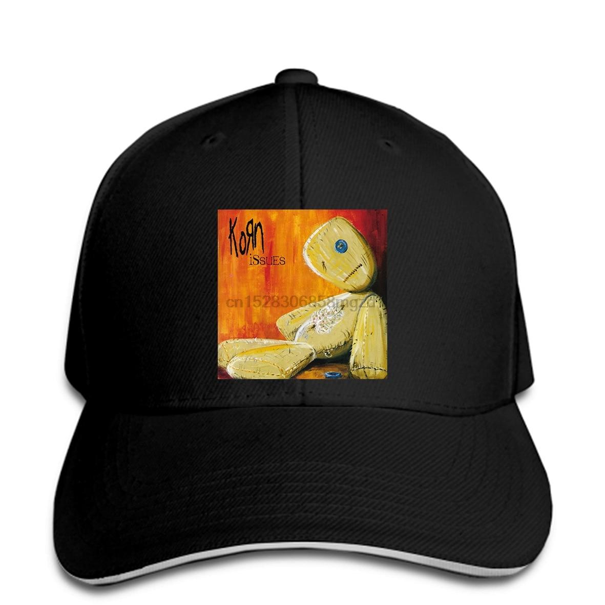 KORN Issues alternativa Metal Rock Band hombres negros gorra de béisbol gorra Snapback mujeres sombrero pico