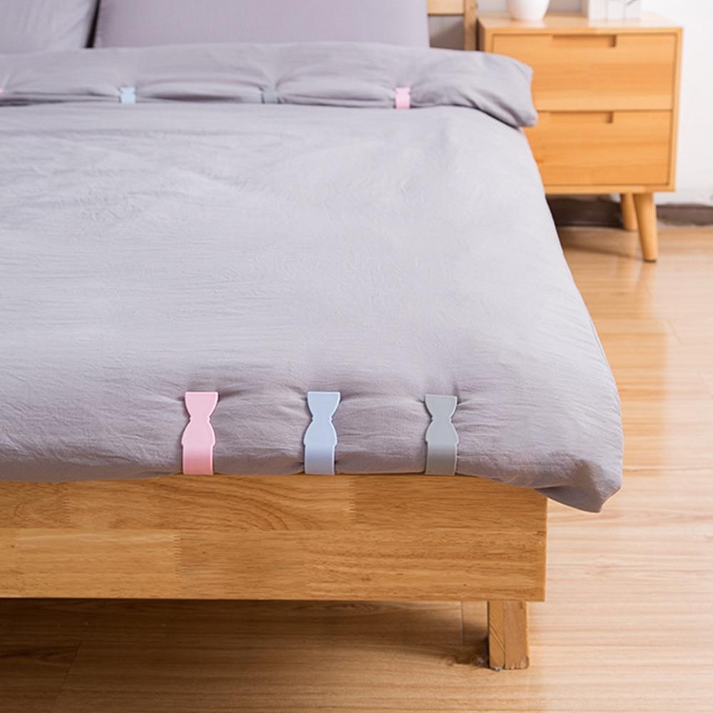 6 piezas de Clip de fijación de sábanas colcha funda ropa de cama cortina toalla Anti-running Clip con cuatro esquinas fijo Anti-hebilla deslizante