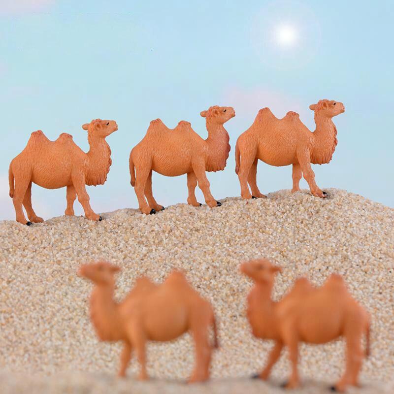 Lindo Camel figuras miniatura animales resina artesanía Mini jardín adornos de Hada de jardín suministros Micro paisaje decoración 1 pieza