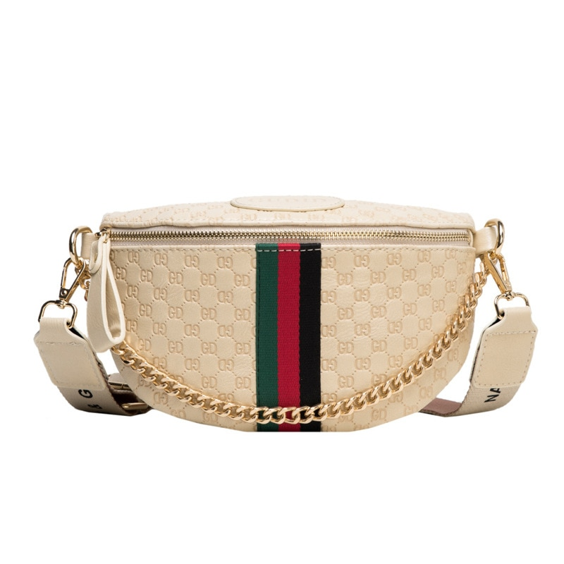 Women's Bags 2020 New Fashion All-match Crossbody Chest Bag Tide Wide Shoulder Strap Single Shoulder Small Bag