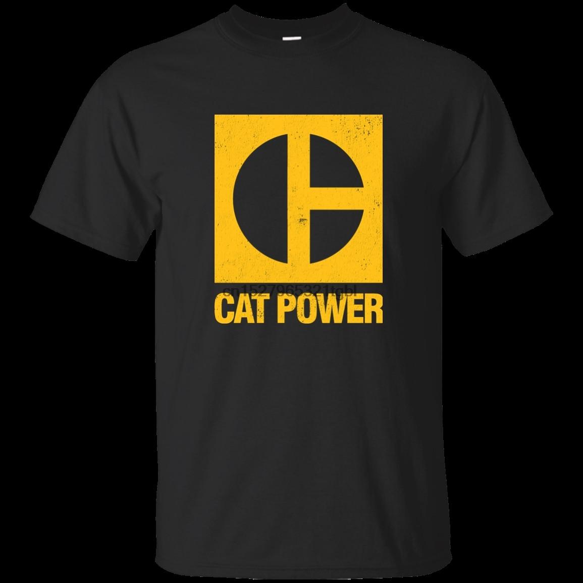 Gato Power Machine equipo de construcción excavadora retroexcavadora Bulldozer Cate Cool Casual pride camiseta hombres Unisex nuevo