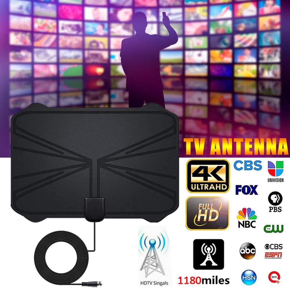 Antenne numérique 4K amplificateur intérieur HDTV, antenne de 1180 millions de HD1080P DVBT2 TV Freeview antenne HD de TV numérique