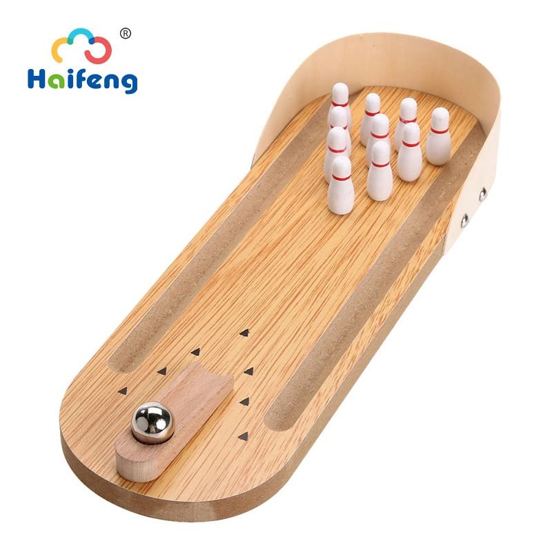 خشبية مجلس لعبة البسيطة سطح المكتب الجدول البولينج لعبة لعبة متعة الأسرة داخلي الجدول الوالدين والطفل لعبة التفاعلية هدية