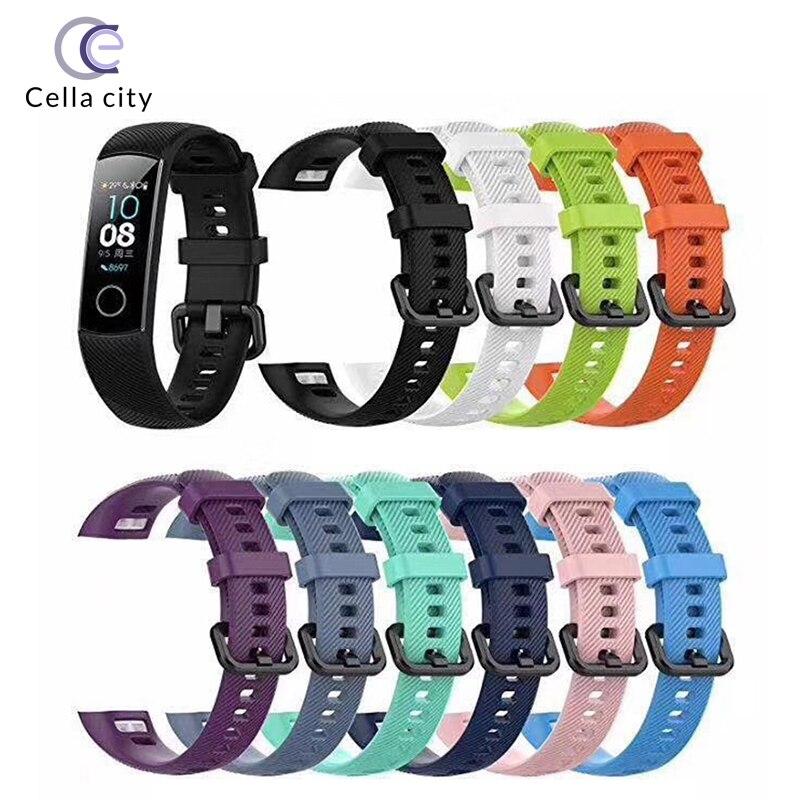 Cintas de celicidade adequadas para huawi honra pulseira pulseira de relógio pulseira de silicone versão padrão geral nfc substituição cintas