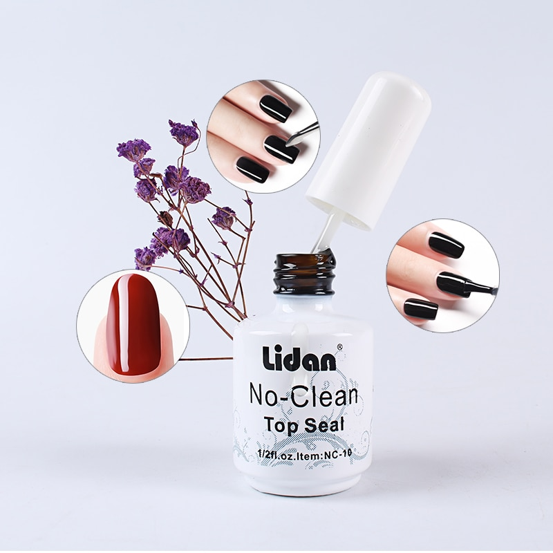 15ml No Seal Varnish Transparent Lacquer Top Coat Soak Off UV Gel Nail Polish LED Nail Primer Builder Manicure Coat  - buy with discount