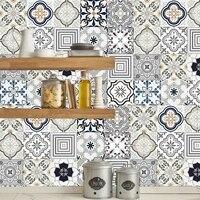 Autocollants muraux carreaux de salle de bains  PVC impermeable a lhuile pour la maison salon chambre a coucher cuisine salle de bains carrelage en vinyle