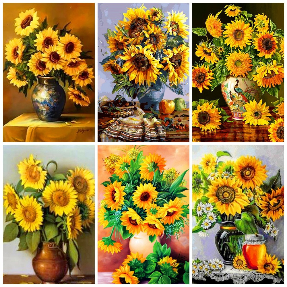 Huacan 5d diy pintura diamante sol flor decoração para casa bordado imagem artesanato kits de arte presente do amante