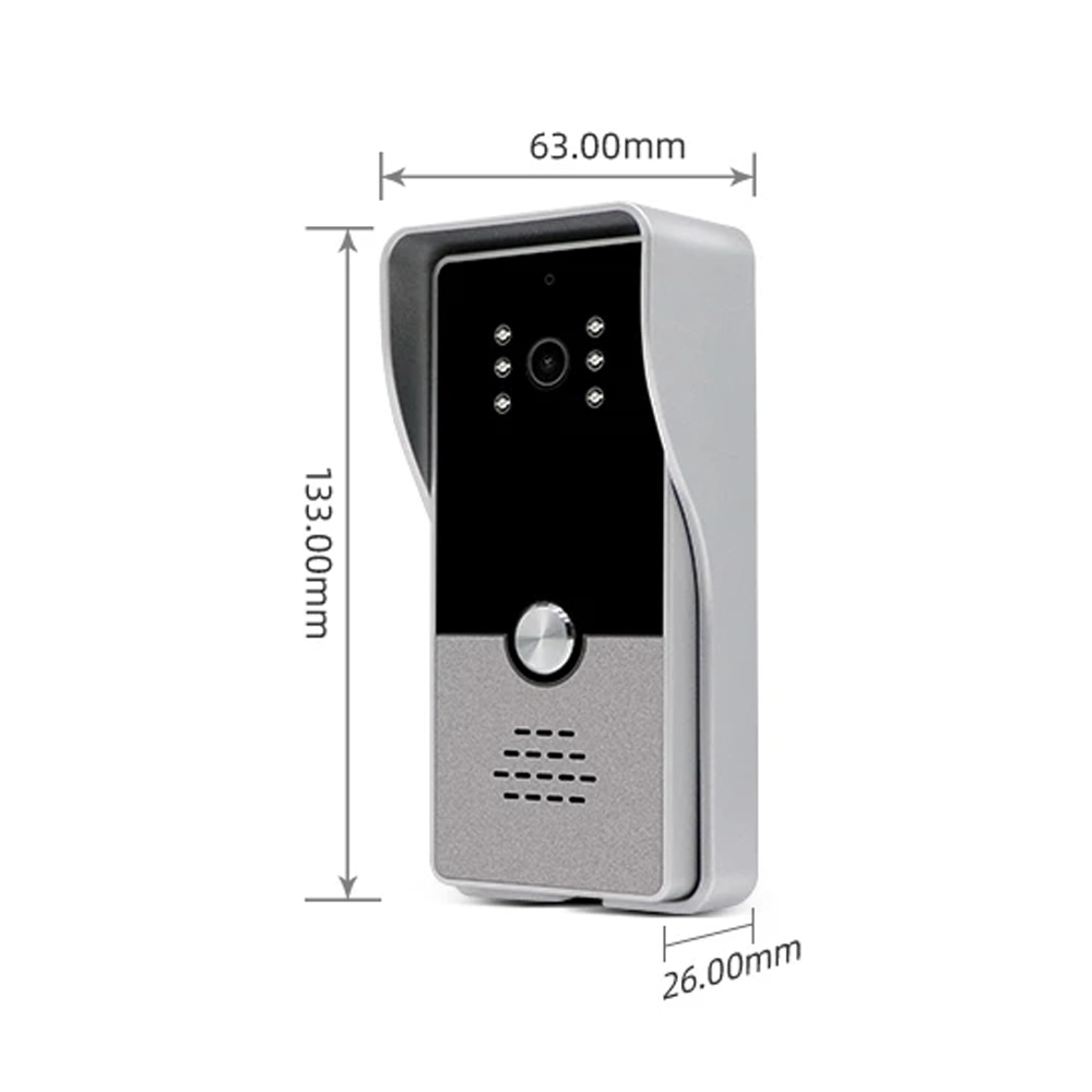 7 Inch Wired Video Intercom Doorbell System With 1000TVL Night Vision IP65 Waterproof Outdoor Doorbell for Home Control Unlock enlarge