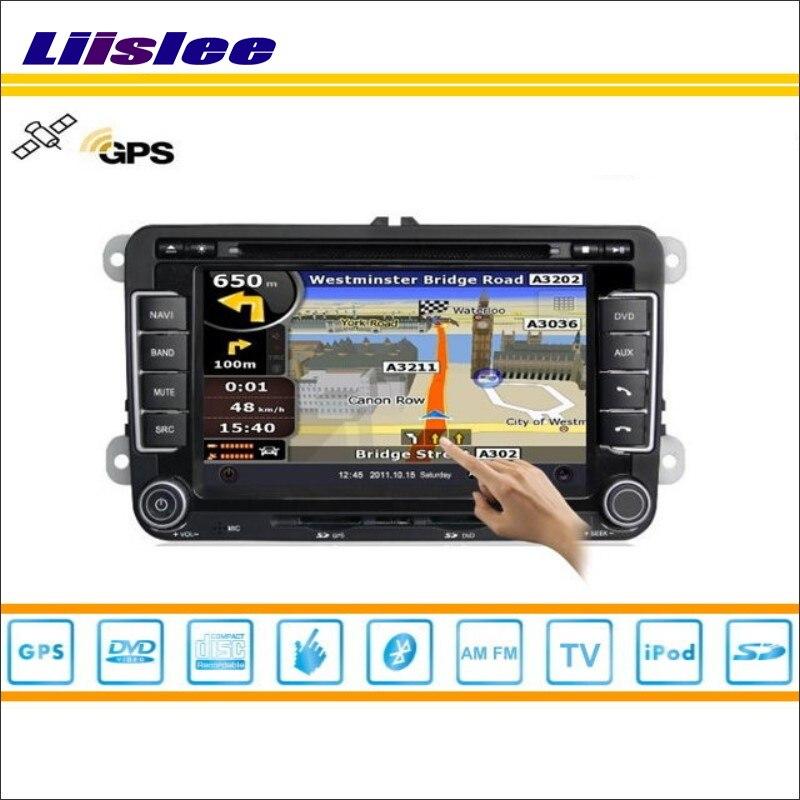 Sistema de navegación Liislee para SEAT Leon MK2 2005 ~ 2011 GPS para coche Navi, Radio TV, DVD, iPod, USB, AUX, sistema Multimedia de pantalla HD