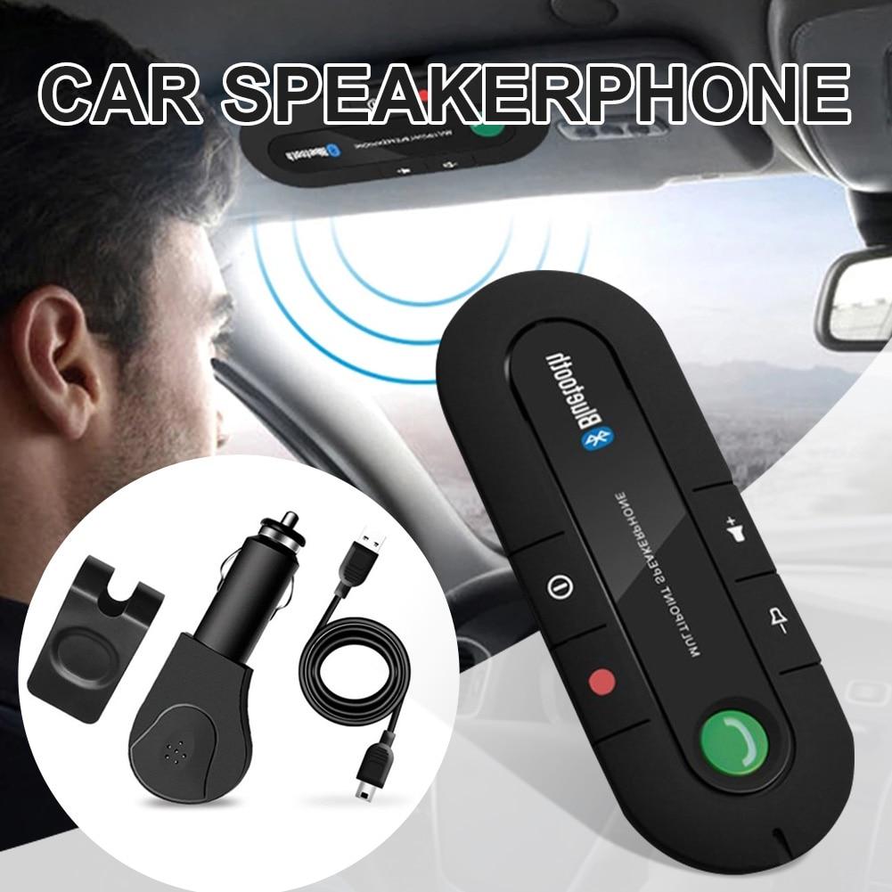Автомобильный динамик телефон V4.1 + EDR беспроводной громкой связи вызов шумоподавление динамик автомобильный комплект с магнитным зажимом д...