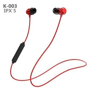 K-003 Bluetooth Wireless Sports Headset Magnet Binaural HIFI Stereo Running In-ear Neck Hanging Music Earphone Outdoor V4.2