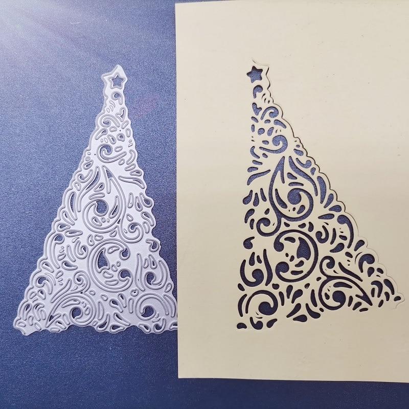 70*110mm Christmas tree Metal steel frames Cutting Dies DIY Scrap booking Photo Album Embossing paper Cards