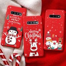 TPU Pour Samsung Galaxy A51 A50 A21S A20 e M01 A20S A10 M11 A11 A21 A20S A30 A41 A70 A71 A81 A90 Joyeux Noël Capas Coffret cadeau