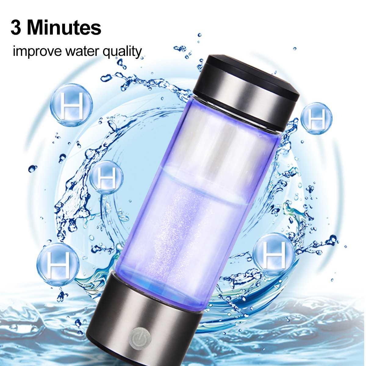 Hydrogen Generator Cup Water Filter 3mins 420ML Alkaline Maker Hydrogen-Rich Water Portable Bottle Lonizer Pure H2 SH5