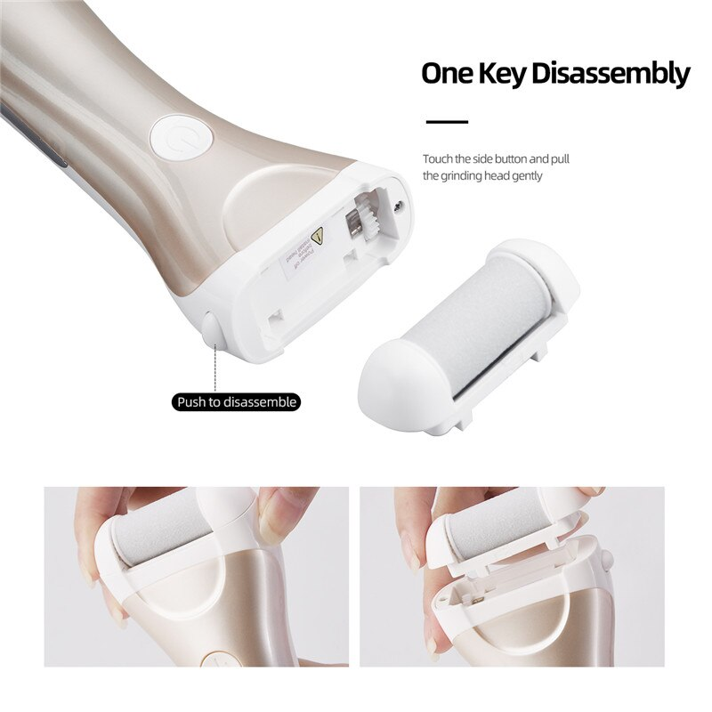 CkeyiN LCD Display Foot Dead Skin Remover USB Rechargeable Feet Grinder Heel File Grinding Exfoliator Pedicure Callus Remover enlarge