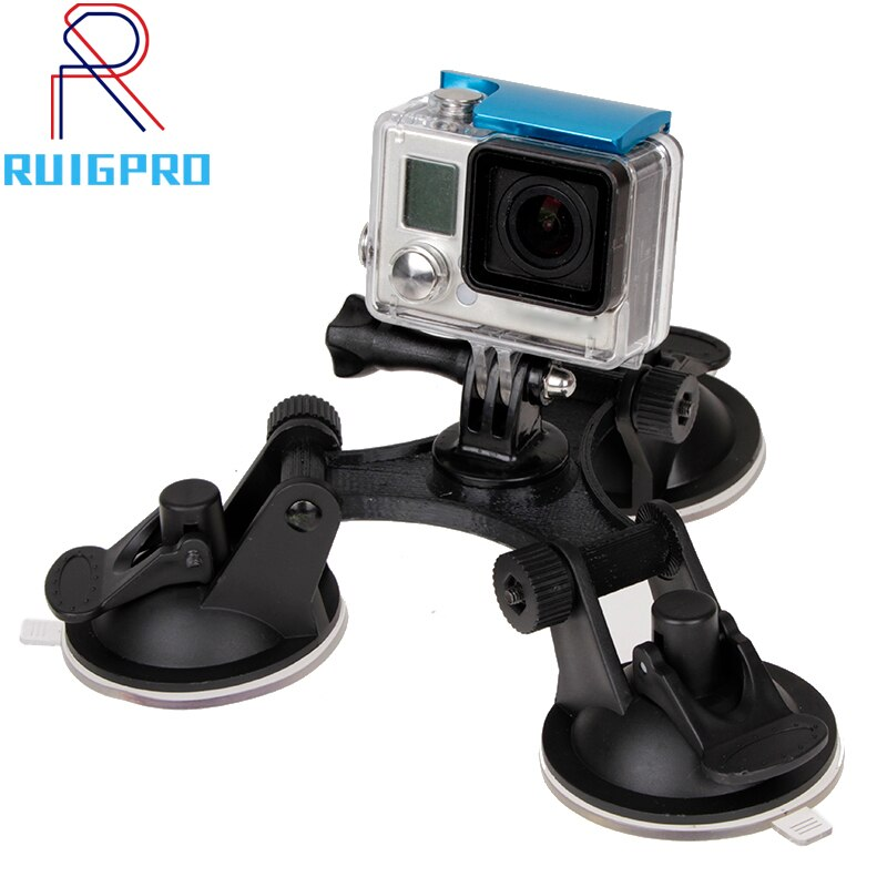 Large/Small Size Car Windshield Suction Cup for GoPro Hero 6 5 7 8 9 Session Sjcam H9 Yi 4K Action Camera Tripod Holder Mount