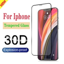 Full Cover Screen Protector Glass for Iphone 7 8 Plus 6 Protective Glass for Iphone XR X XS Max 11 1