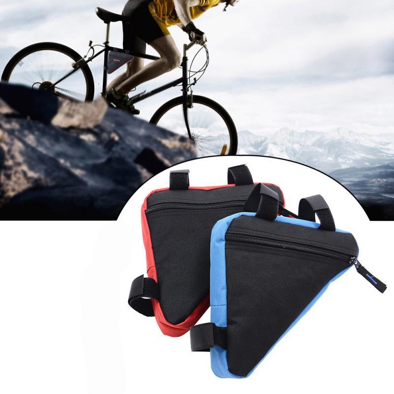 Велосипедная Водонепроницаемая треугольная сумка для велосипеда, нейлоновая ткань с лентами на липучке, кошелек, держатель для тубы, аксес...