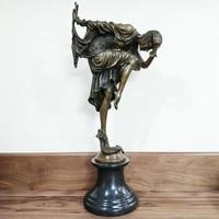 43cm large western art bronze woman statue snake dancer female sculpture hot casting home decoration
